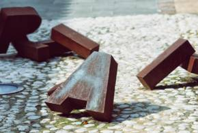 Detalles escultura Plaza Nicolás Kerche